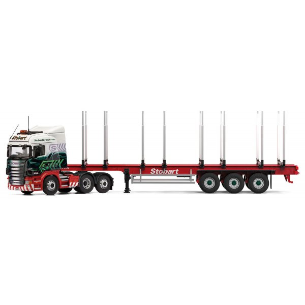 corgi scania r  rear tag  log trailer eddie stobart