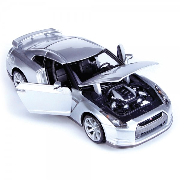 maisto 2009 nissan gt-r assembly line metal kit - 1:24 scale kit