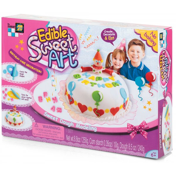 Cake Decoration Dough : Birthday Cake Decoration - Create. Decorate & Eat - Sweet Dough Modeling