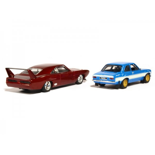 greenlight fast furious 6 set doms 1969 dodge charger daytona brians 1974 ford escort rs2000 mki 143 scale diecast car - Dodge Charger 1969 Fast And Furious 6