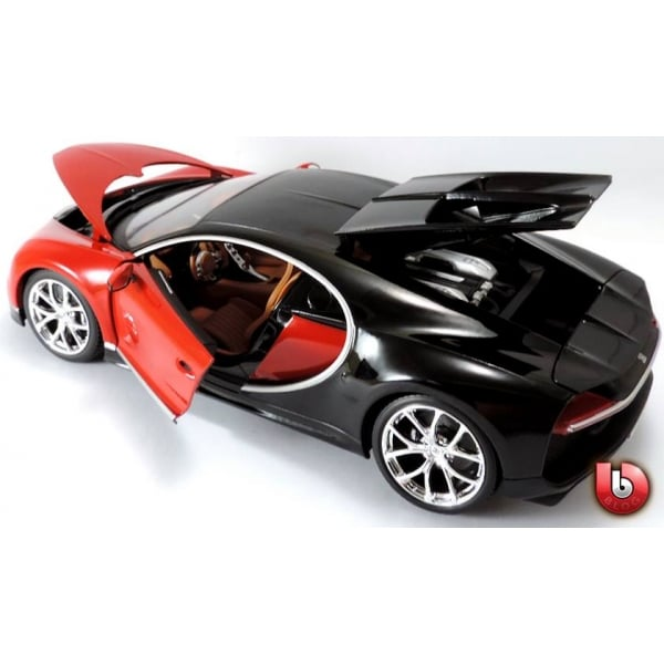 bburago bugatti chiron red 1 18 scale diecast car bburago from jumblies models uk. Black Bedroom Furniture Sets. Home Design Ideas