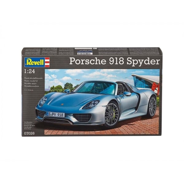 revell 1 24 porsche 918 spyder model car kit revell from jumblies models uk. Black Bedroom Furniture Sets. Home Design Ideas