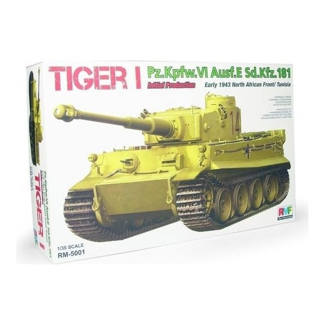 Rye Field Model 1:35 Pz.Kpfw.VI Ausf.E Tiger I Initial Production Early 1943 Tunisia North Africa Military Model Kit