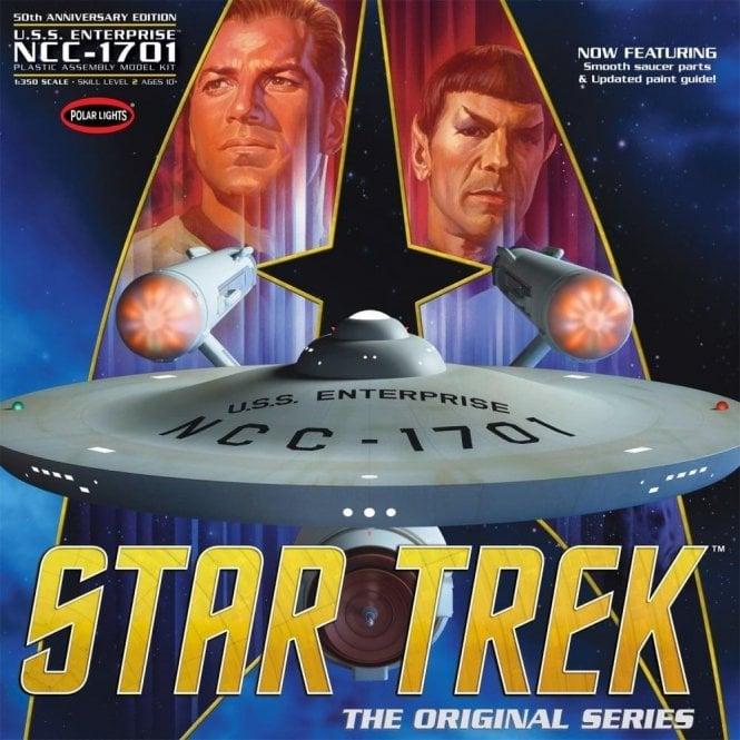 Polar Lights Star Trek TOS Enterprise 50th Anniversary Edition - 1:350 Scale Model Kit