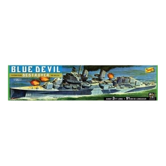 Lindberg Blue Devil Destroyer - USS Melvin (DD-680) Without Motor - 1:125 Scale Ship Kit