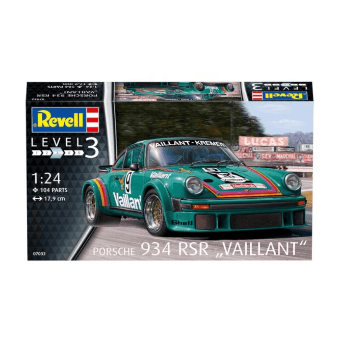 "Revell 1:24 Porsche 934 RSR ""Vaillant"" Model Car Kit"