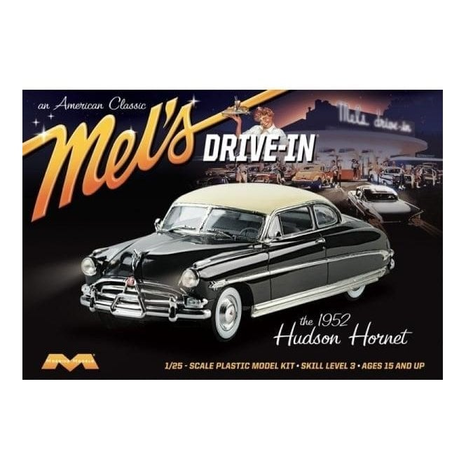 Moebius Models 1952 Hudson Hornet Mel's Drive-In - 1:25 Scale Car Kit