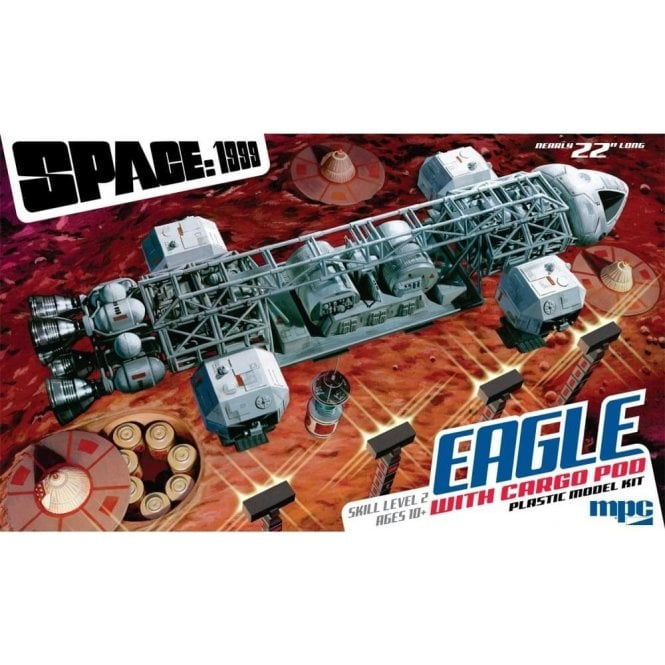 "MPC Space: 1999 Eagle Transporter With CARGO POD - 1:48 Scale Model Kit - Nearly 22"" Long"