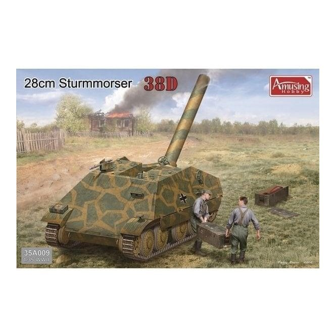 Amusing Hobby 1:35 28cm Sturmmörser 38D Military Model Kit