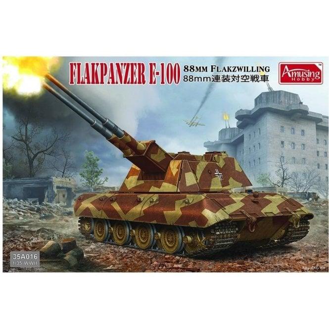 Amusing Hobby 1:35 8.8cm Flakzwilling Flakpanzer E-100 Military Model Kit