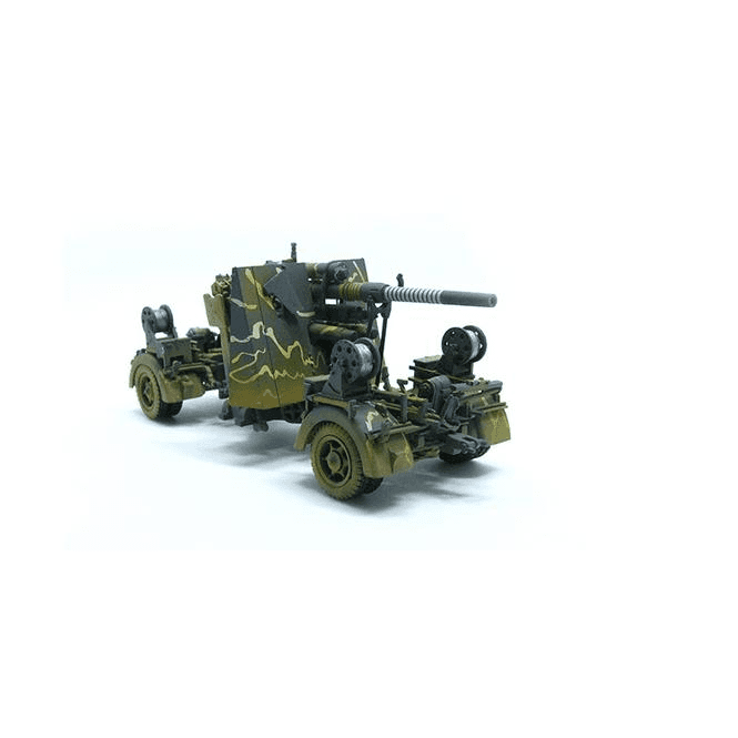 Precision Model Art 1:72 German 88mm FLAK 36 Camoflage & Trailer, German Army