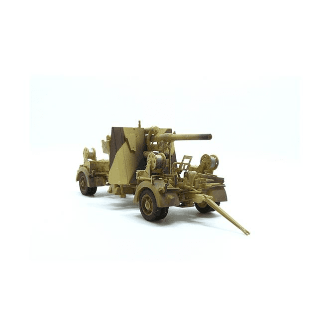 Precision Model Art 1:72 German 88mm FLAK 36 Desert Scheme & Trailer, German Army