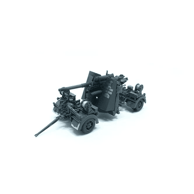 Precision Model Art 1:72 German 88mm FLAK 37 Snow & Trailer, German Army 1942