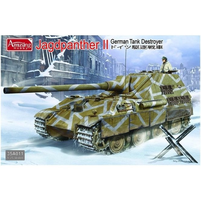 Amusing Hobby 1:35 German Jagdpanther II Tank Destroyer Military Model Kit