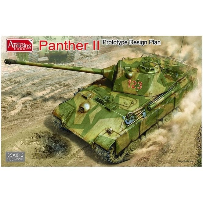 Amusing Hobby 1:35 Panther II Prototype Design Plan Military Model Kit