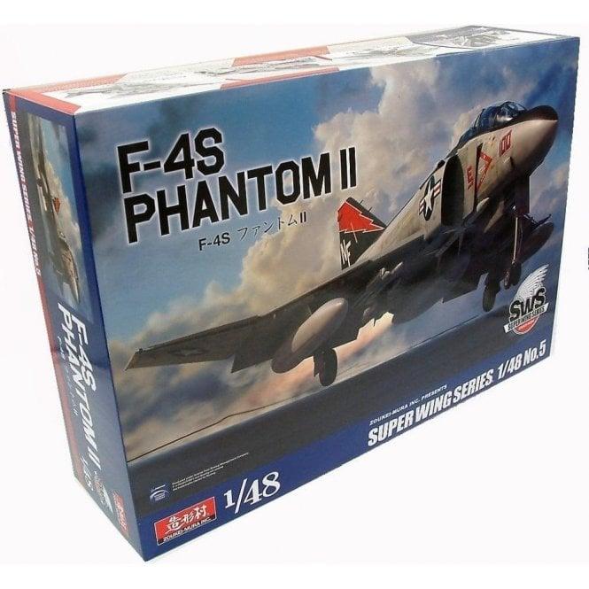 Zoukeimura Super Wing Series McDonnell Douglas F-4S Phantom II - 1:48 Scale Aviation Kit
