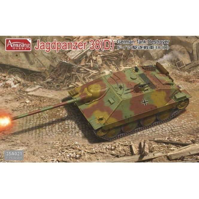 Amusing Hobby 1:35 German Jagdpanzer 38(D) Tank Destroyer Military Model Kit