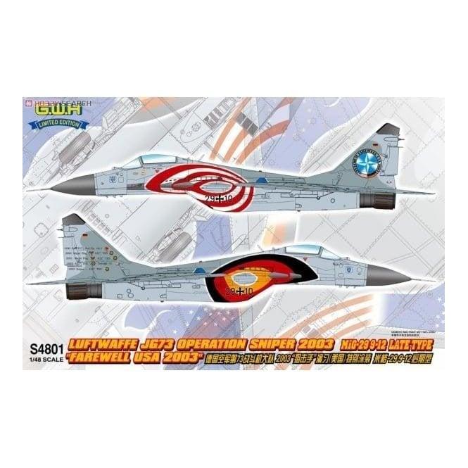 Great Wall Hobby 1:48 MiG-29 JG73 Operation Sniper 2003 ' Farewll USA 2003 ' Aircraft Model Kit