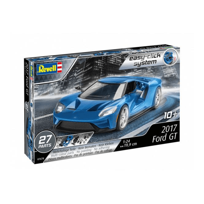 revell 1 24 2017 ford gt 39 easy click 39 car model kit. Black Bedroom Furniture Sets. Home Design Ideas