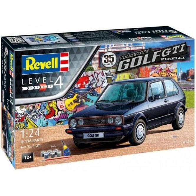 Revell 1:24 Gift Set 35 Years VW Golf Mk.I GTI ' Pirelli Golf ' Model Car Kit