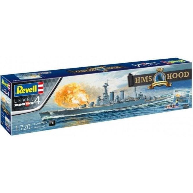 Revell 1:720 Gift Set HMS Hood 100th Anniversary Edition Model Ship Kit