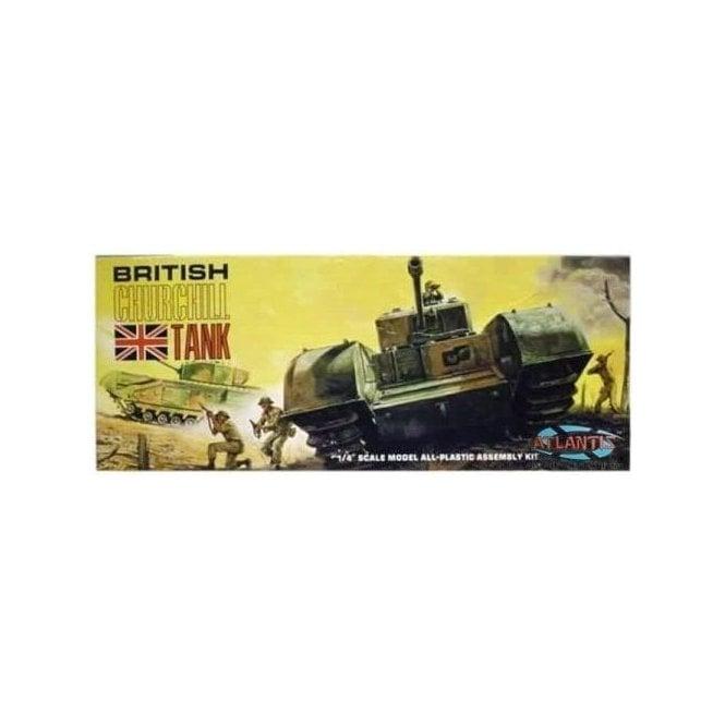 Atlantis Models 1:48 British Churchill Tank Military Model Kit