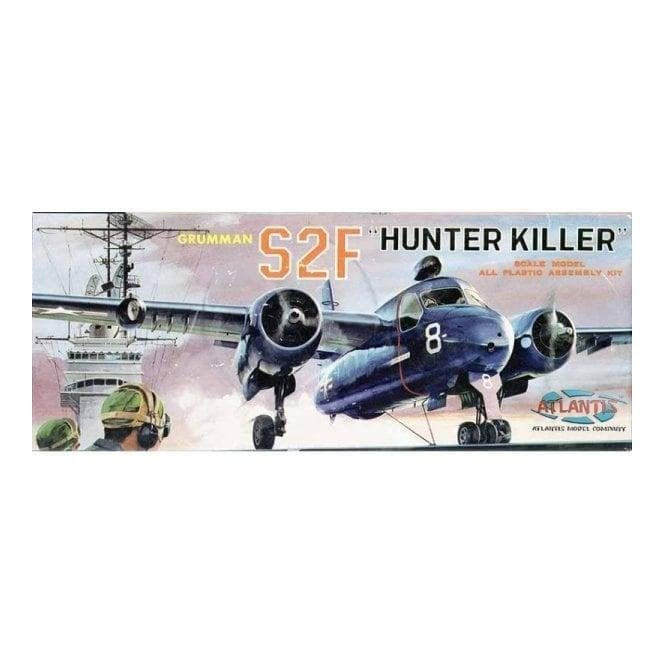 Atlantis Models 1:54 Grumman S2F Hunter Killer Aircraft Model Kit