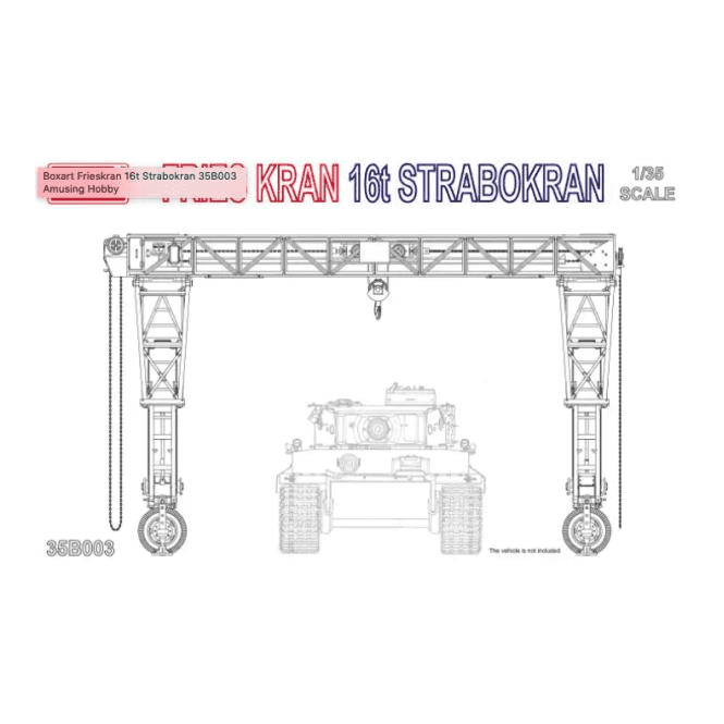 Amusing Hobby 1:35 FRIES KRAN 16t STRABOKRAN Military Model Kit