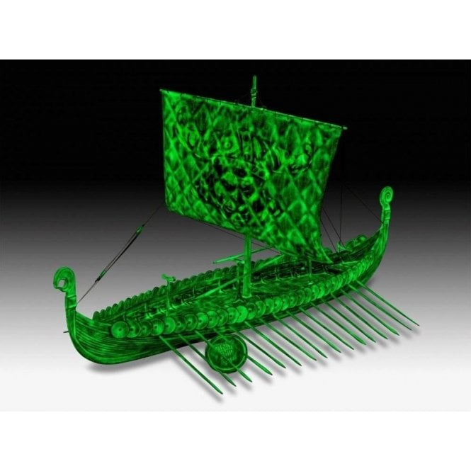 Revell 1:50 Viking Ship ' glows in the dark ' Model Ship Kit