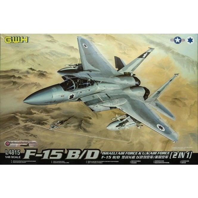 Great Wall Hobby 1:48 F-15B/D Strike Eagle Israeli AF & USAF Decals Aircraft Model Kit