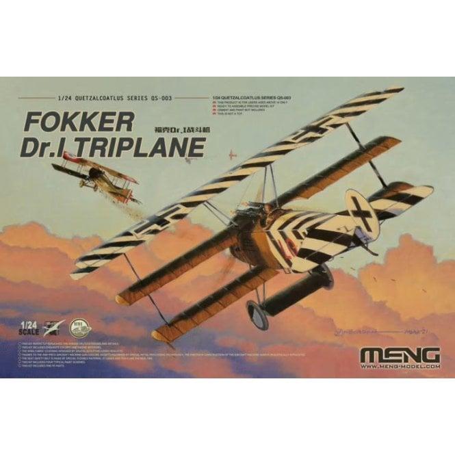 Meng Models 1:24 Fokker Dr.I Triplane Model Kit