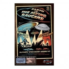 Atlantis Models Earth Vs The Flying Saucers Lighted UFO Model Kit