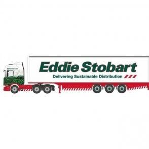 Oxford Diecast Scania R Series Highline Box Trailer - Eddie Stobart - 1:76 Scale Diecast Truck
