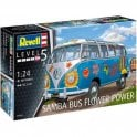 Revell 1:24 Volkswagen Samba T1 Flower Power Model Car Kit