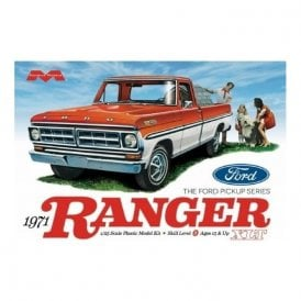 Moebius Models The Ford Pick Up Series 1971 Ranger XLT - 1:25 Scale Car Kit