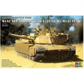 Rye Field Model M1A2 SEP Abrams US Main Battle Tank - Tusk-TuskI-TuskII Versions - 1:35 Scale Kit