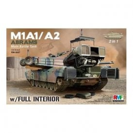 Rye Field Model M1A1 / A2 Abrams w/ Full Interior 2 in 1 - 1:35 Scale Kit