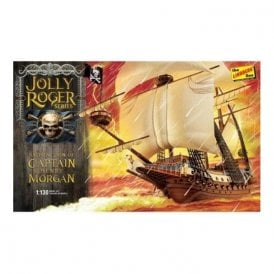 Lindberg Damaged Box Jolly Roger Series: Satisfaction of Captain Henry Morgan - 1:130 Scale Ship Kit