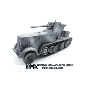 Precision Model Art 1:72 SD.Kfz.8 DB9, Flak 18 88mm, German Army 1942
