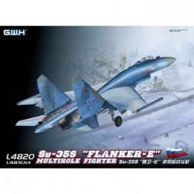 Great Wall Hobby 1:48 Su-35S `Flanker-E` Multirole Fighter Aircraft Model Kit