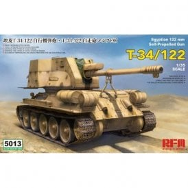 Rye Field Model 1:35 T-34/122 Egyptian Tank Military Model Kit