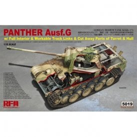 Rye Field Model 1:35 Panther Ausf.G with full interior & cut away parts & workable track links Military Model Kit