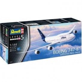 Revell 1:144 Boeing 747-8 Lufthansa (New Livery) Aircraft Model Kit