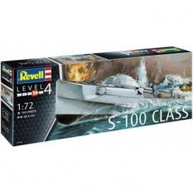 Revell 1:72 German Fast Attack Craft S-100 Model Ship Kit