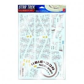 Polar Lights 1:537 Star Trek U.S.S Reliant Aztec Decals (Suitable for AMT1036 Model Kit)