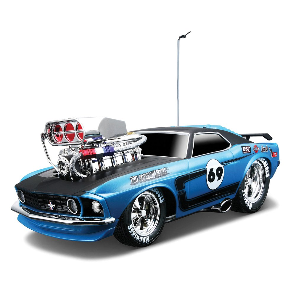 Maisto Muscle Machines RC 1969 Ford Mustang Boss 302 Remote ...