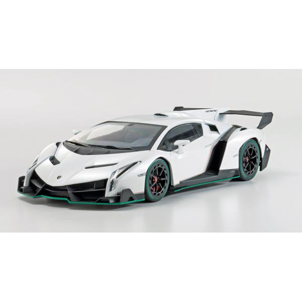 Lamborghini Veneno White With Green Line