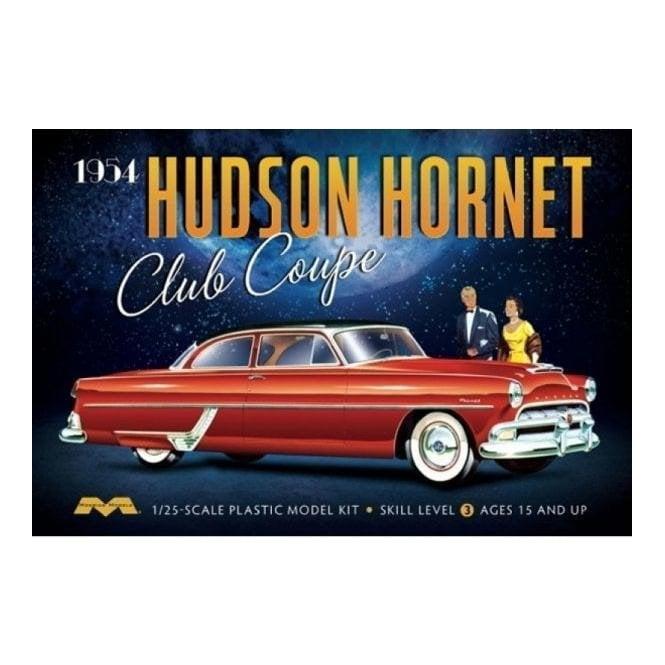 Moebius Models 1:25 1954 Hudson Hornet Club Coupe Car Model Kit