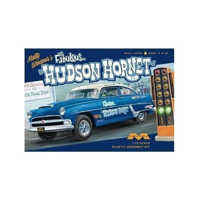 Moebius Models 1:25 1954 Hudson Hornet Special Jr Stock Car Model Kit