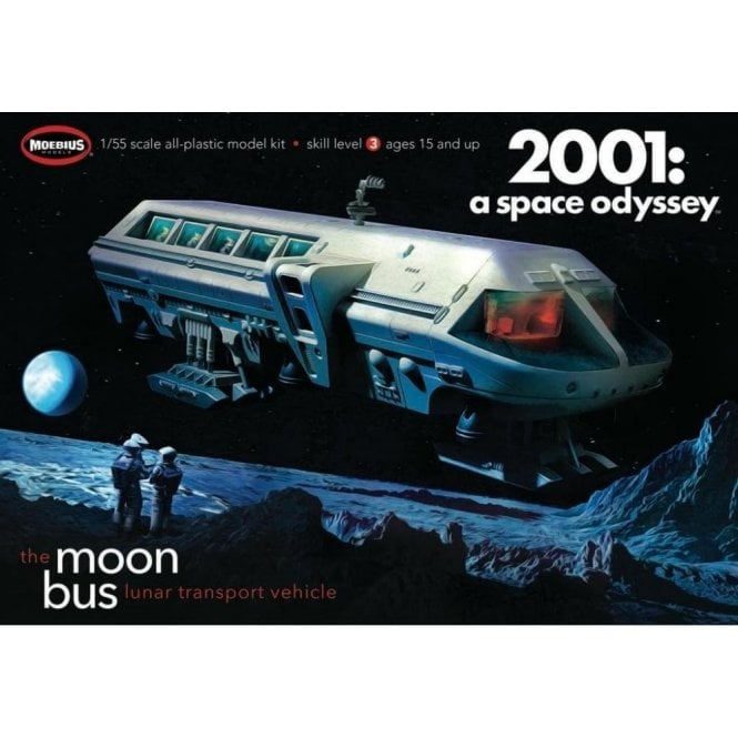 Moebius Models 1:55 Moon Bus from 2001: A Space Odyssey Model Kit